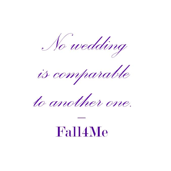 Fall4Me wedding rule 1