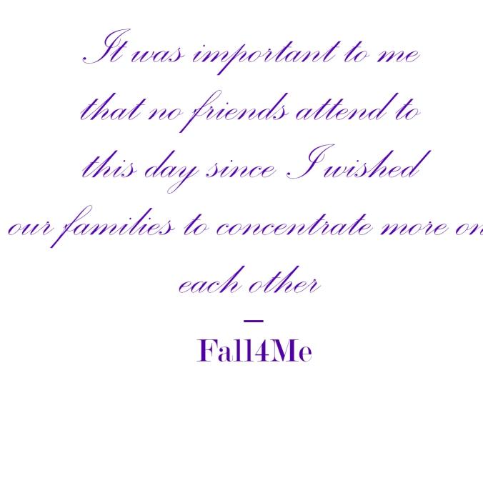 Fall4Me wedding rule family