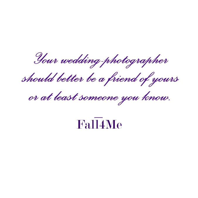 Wedding photography wisdom